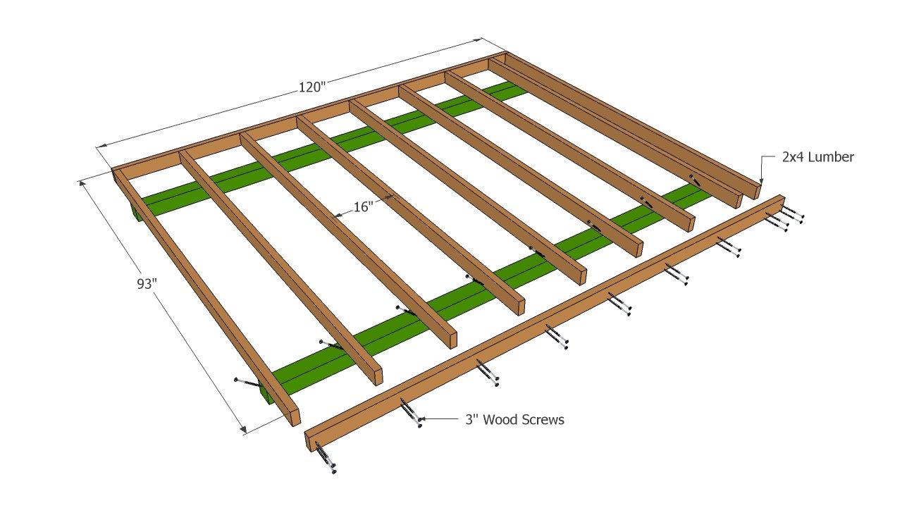 Barn shed plans howtospecialist how to build step by for Shed floor plans