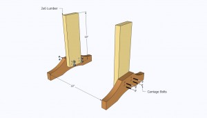 Building the legs of the table