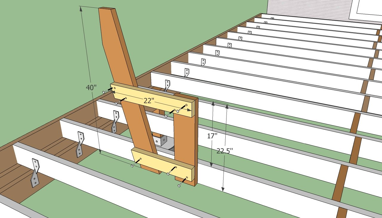 Diy plans for building a deck plans free Wood deck designs free