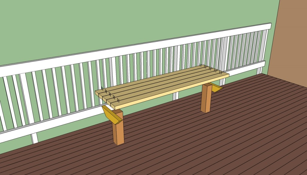 Deck seat bench