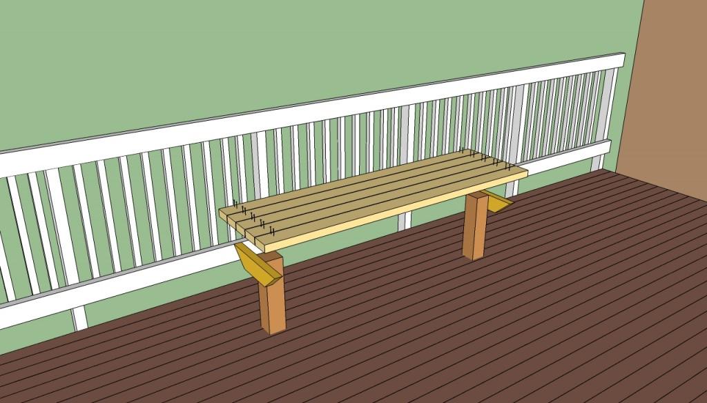 Deck seat bench