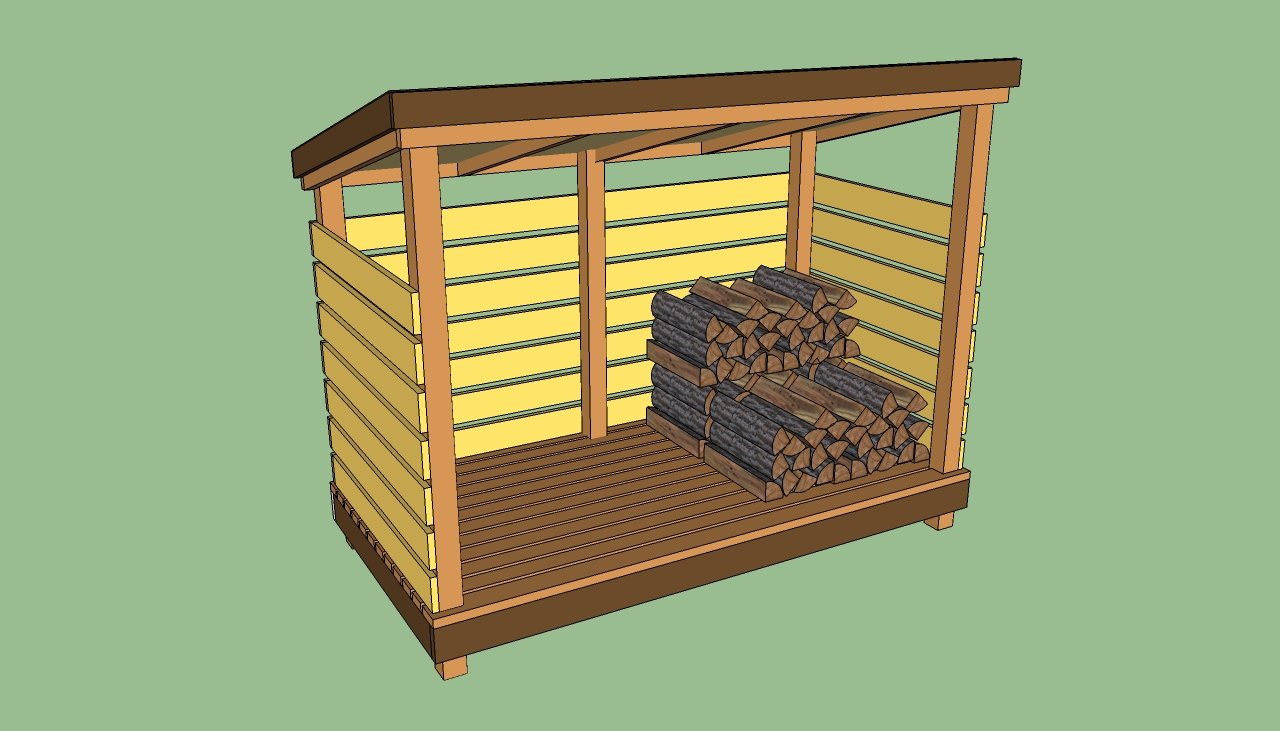 Firewood storage shed plans | HowToSpecialist - How to Build, Step by ...