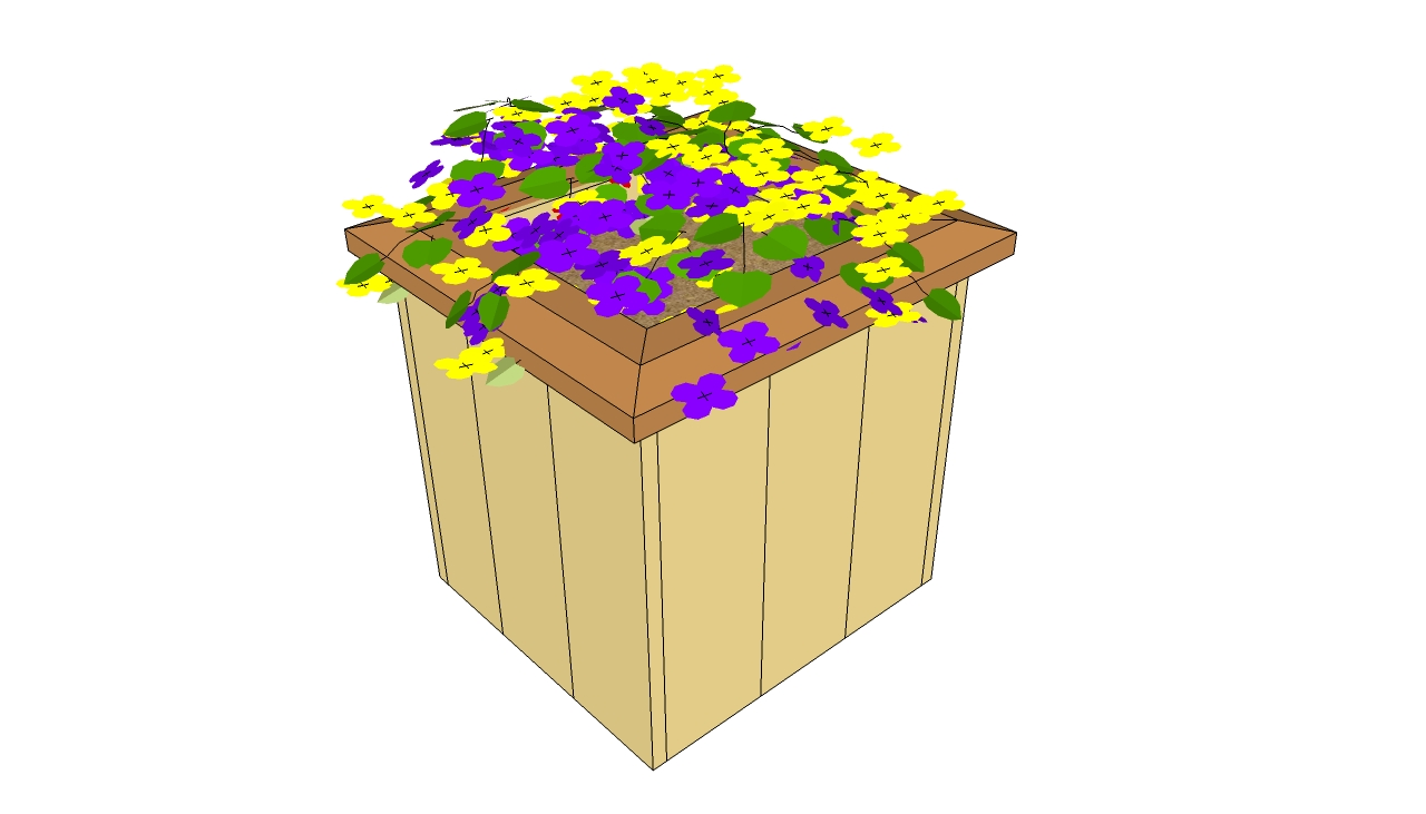 Wooden Planter Plans Howtospecialist How To Build