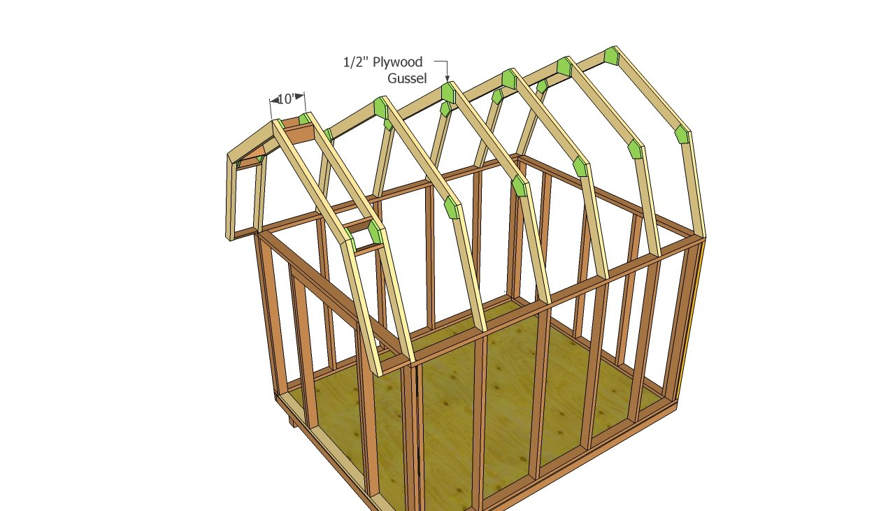 Barn Shed Plans Howtospecialist How To Build Step By