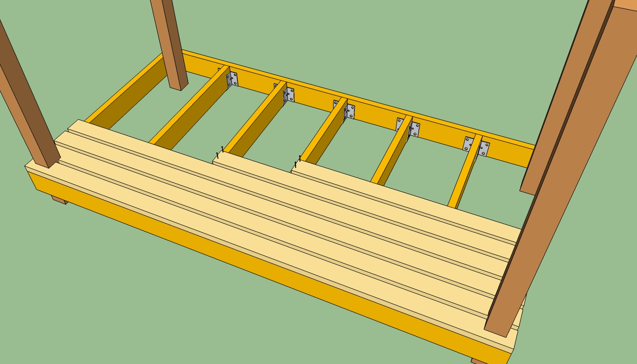 Deck boards tips laying