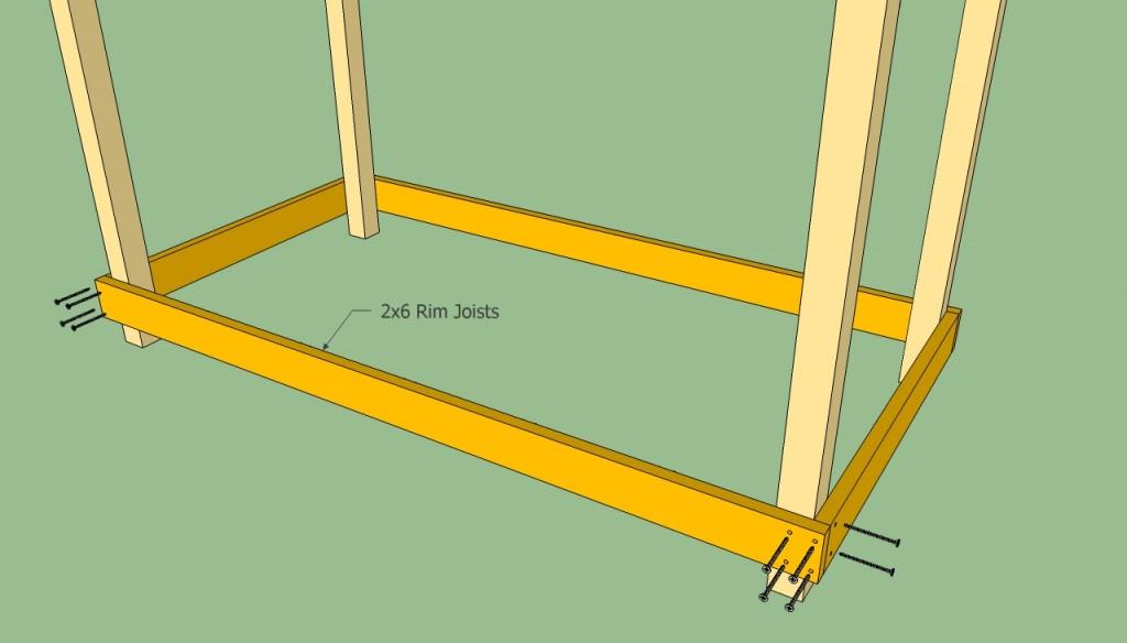 Installing rim joists