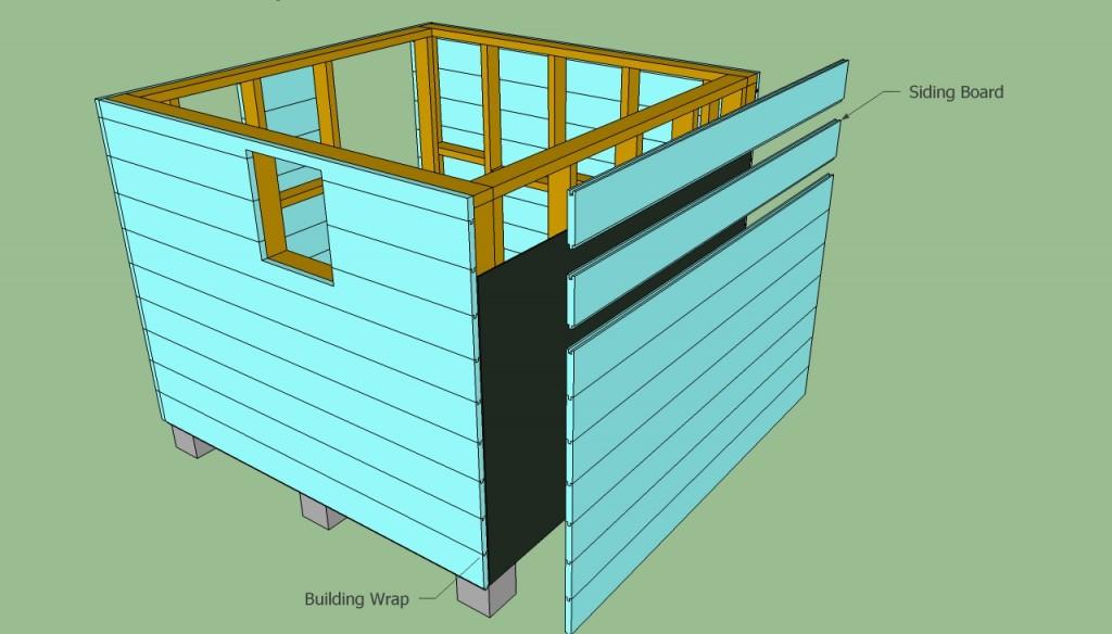 Installing siding boards
