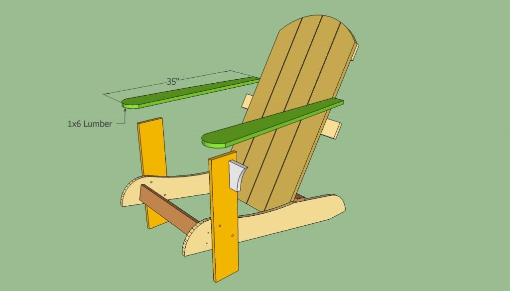 Arm rests chair plans