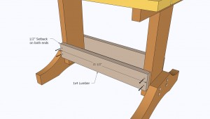 Installing the wooden braces