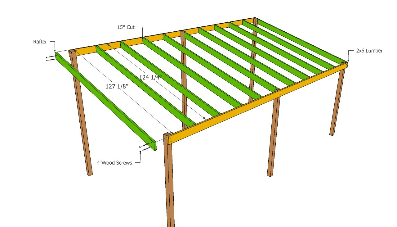 wood carport shed plans