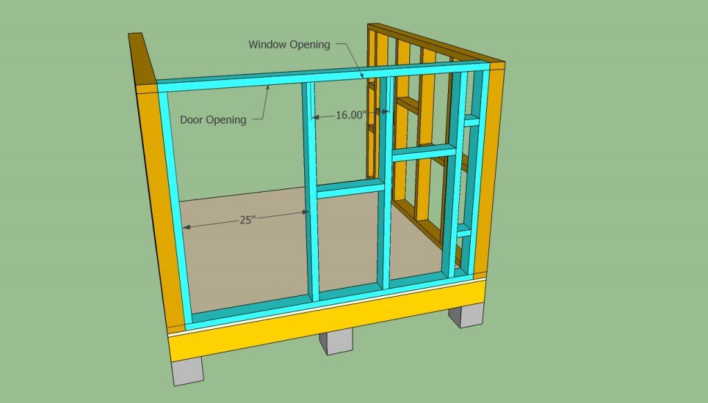 Playhouse front wall plans