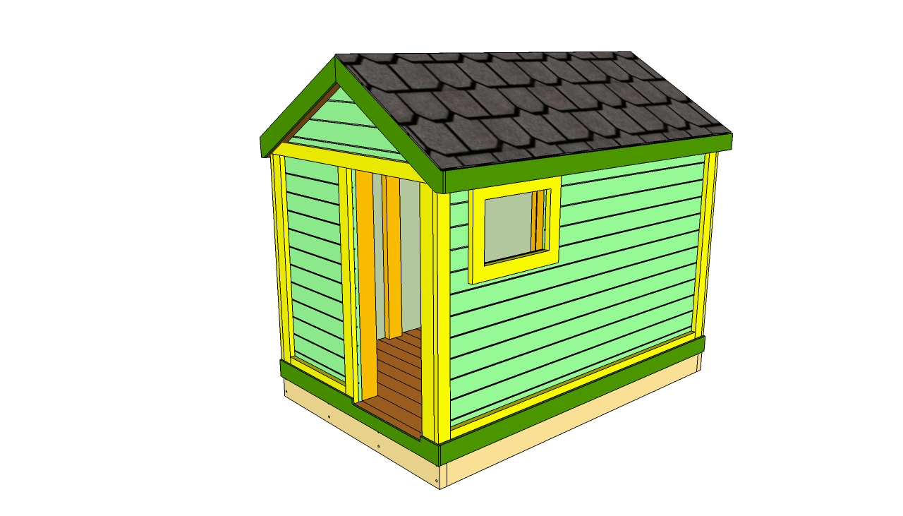Wooden playhouse plans howtospecialist how to build for Garden playhouse plans