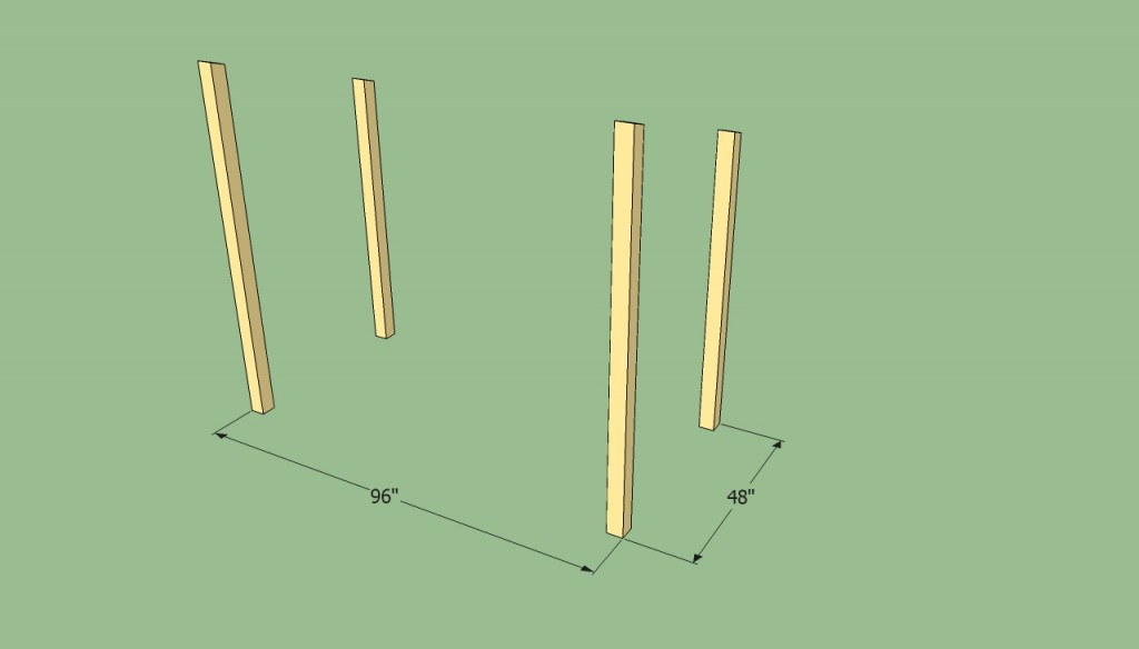 Shed posts