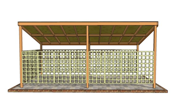 Wooden carport plans howtospecialist how to build for Wood carport plans free