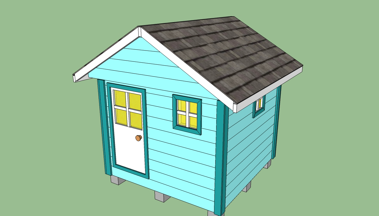 plans building a wooden playhouse