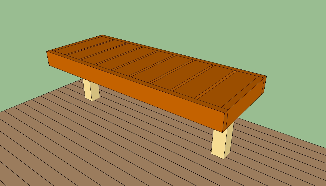 How to build a deck bench | HowToSpecialist - How to Build, Step ...