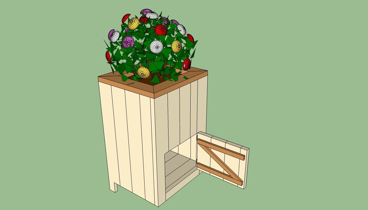 How to build a deck planter