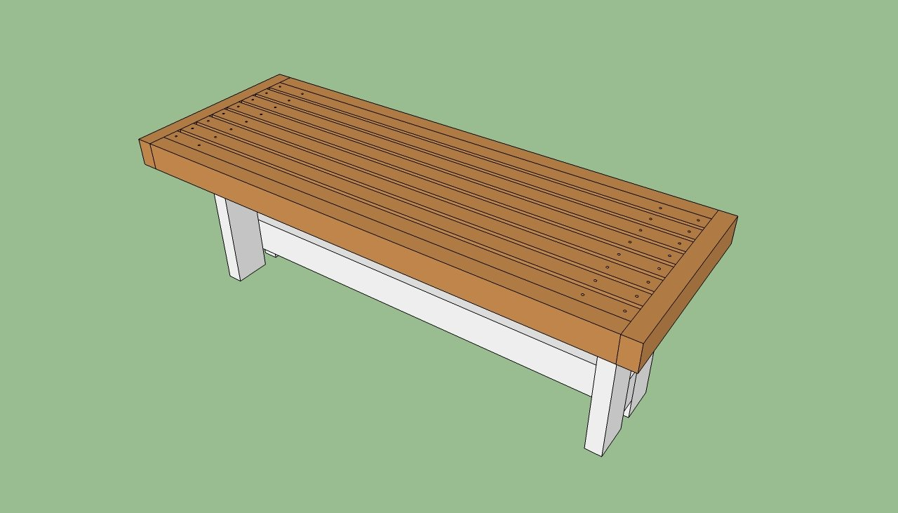 park bench building instructions