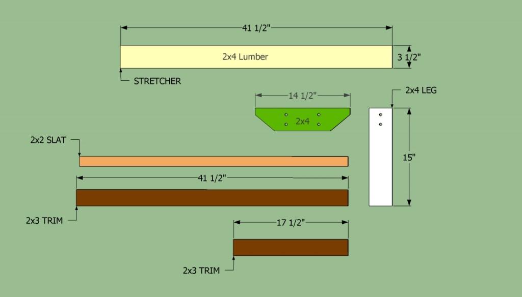 Park Bench Components