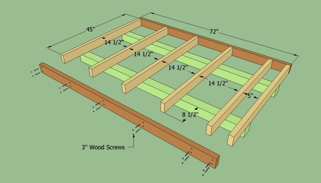 Build the floor of the lean to shed