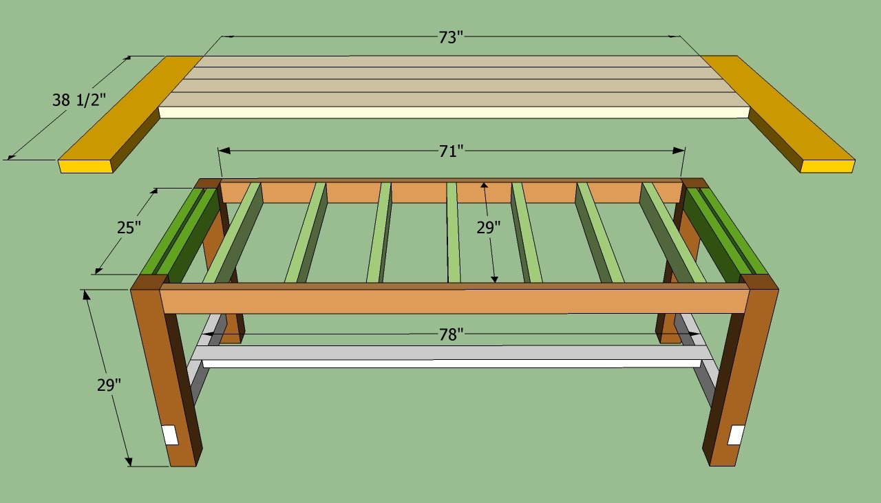 Pdf plans woodworking plans farmhouse dining table for Kitchen table designs plans