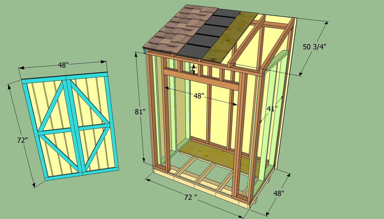 How to build a lean to shed howtospecialist how to for Building onto a house