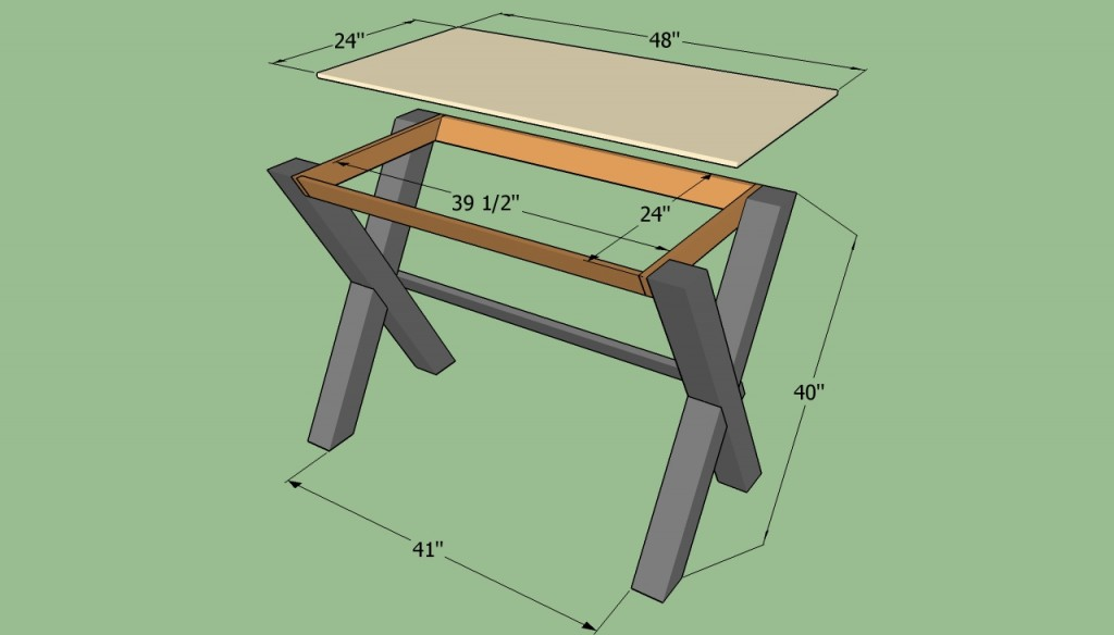 ... simple desk | HowToSpecialist - How to Build, Step by Step DIY Plans