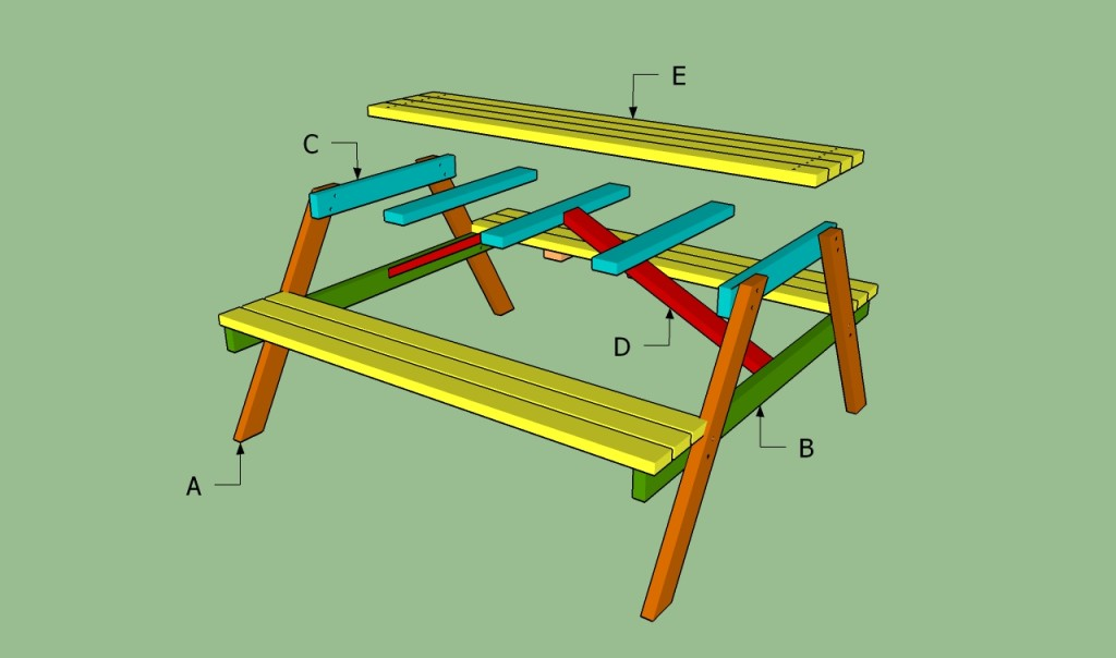 Building a wooden picnic table
