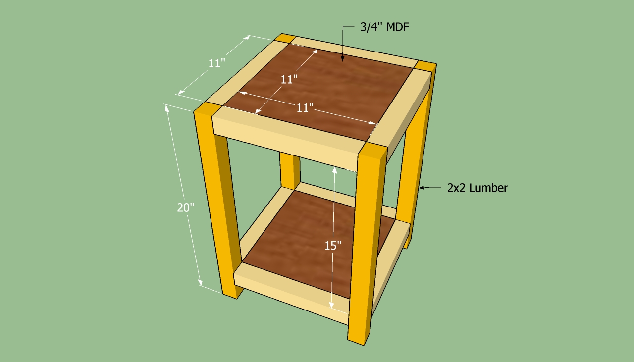 Build End Table Wood