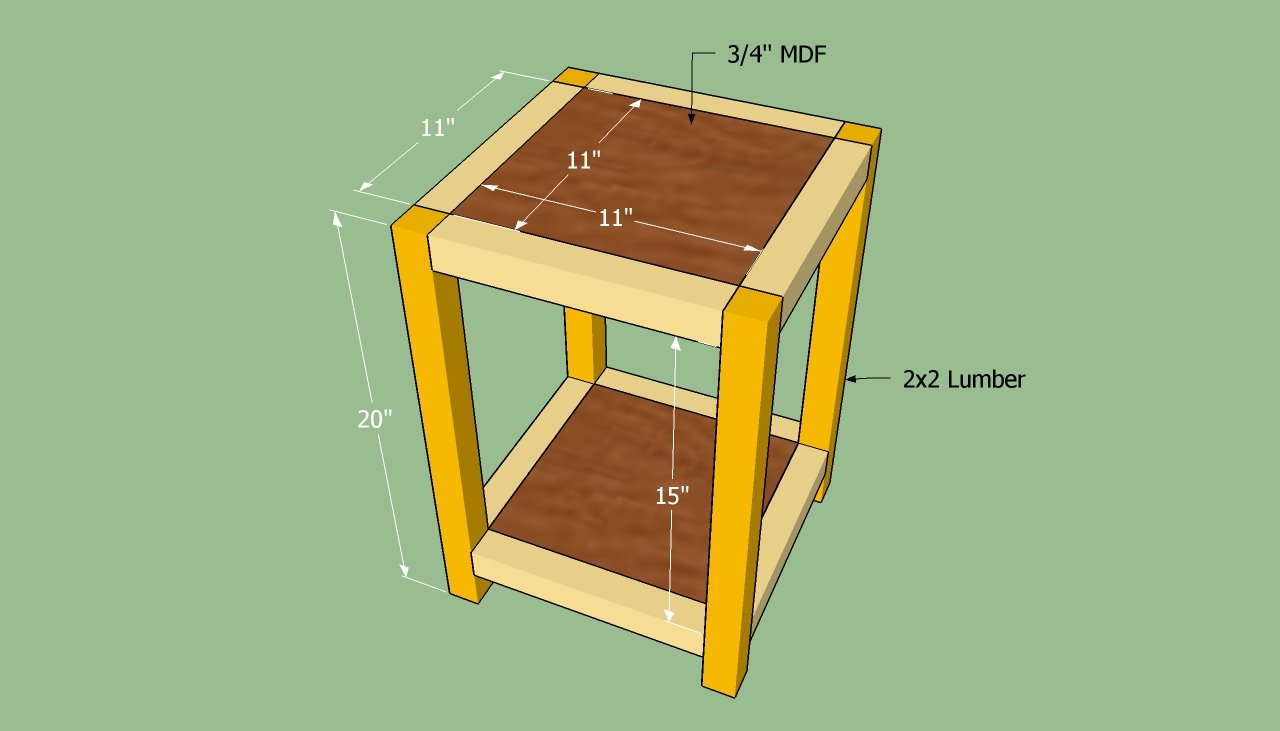 ... an end table | HowToSpecialist - How to Build, Step by Step DIY Plans