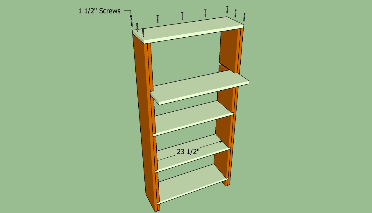 How to build a bookcase wall | HowToSpecialist - How to Build, Step by ...