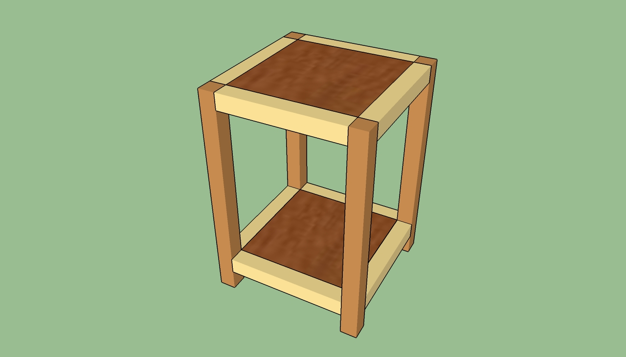 How To Build Wooden End Table