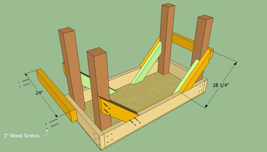 Building the exterior braces