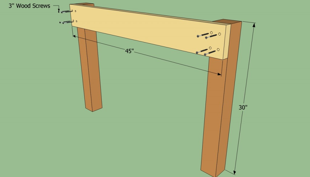 Building the sides of the workbench