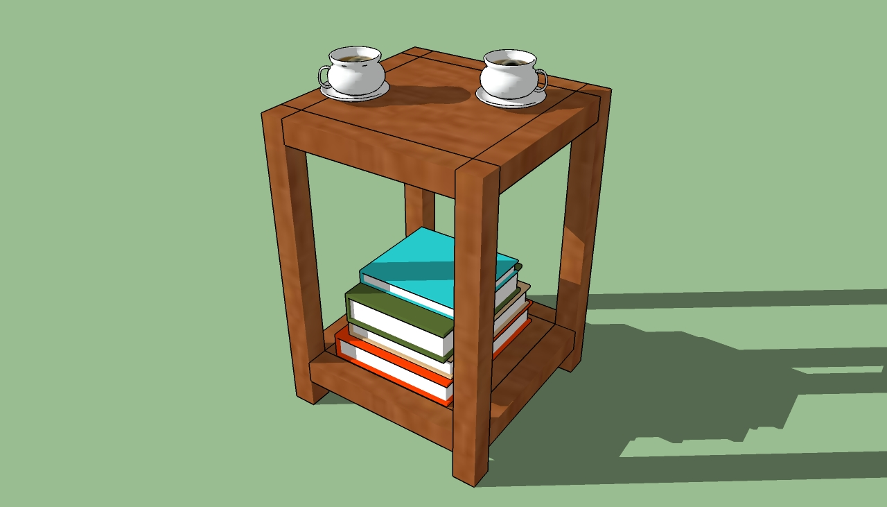 Pdf diy simple wooden end table plans download simple for Wooden table designs images