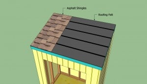 Installing the asphalt shingles