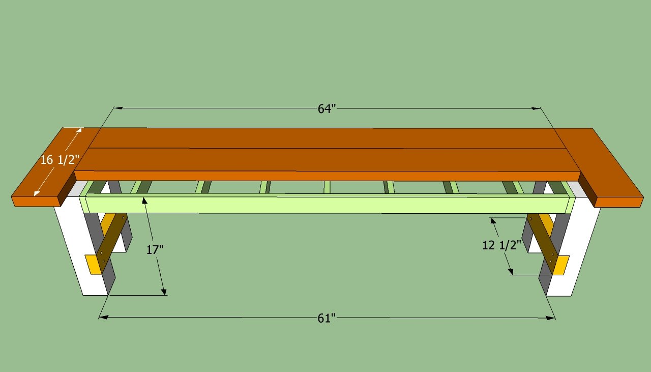 Construction Plans for a Wooden Bench