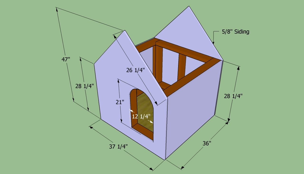 how to build a large dog house step by step