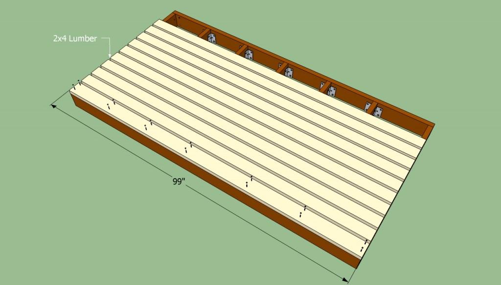 Attaching the flooringAttaching the flooring