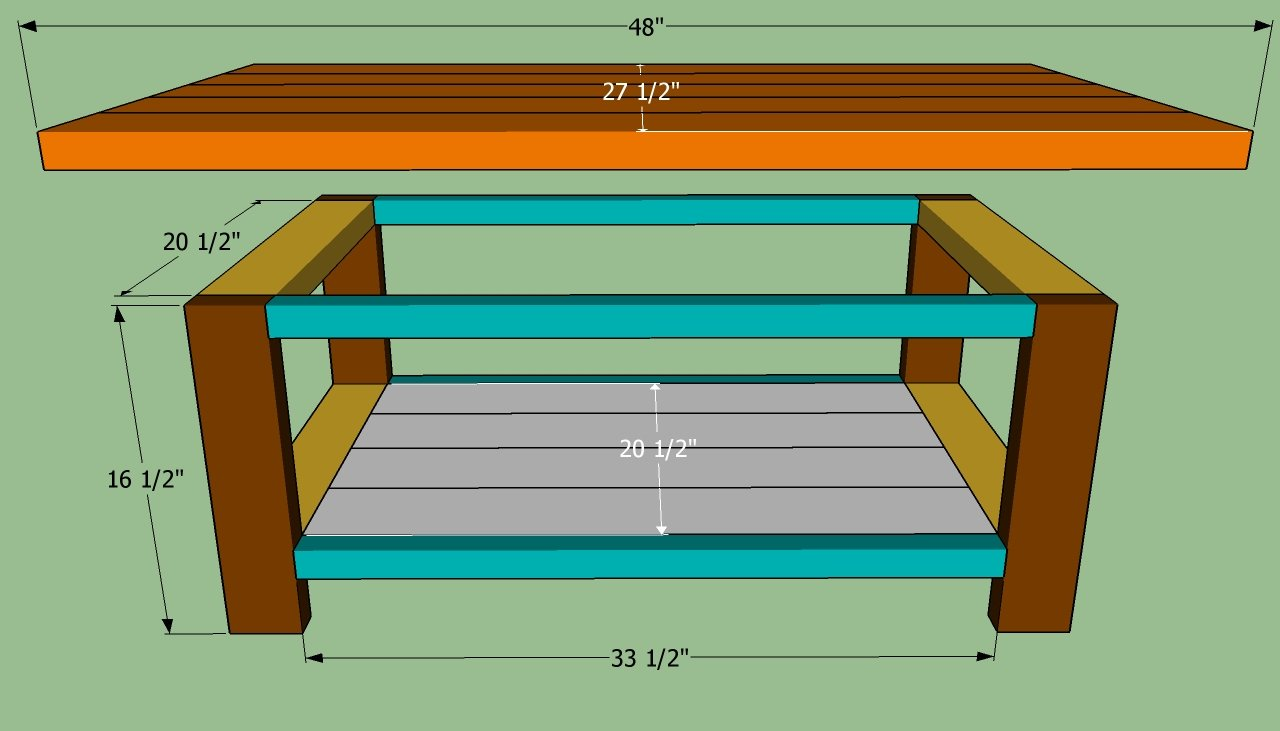 How to build a coffee table howtospecialist how to Homemade coffee table plans
