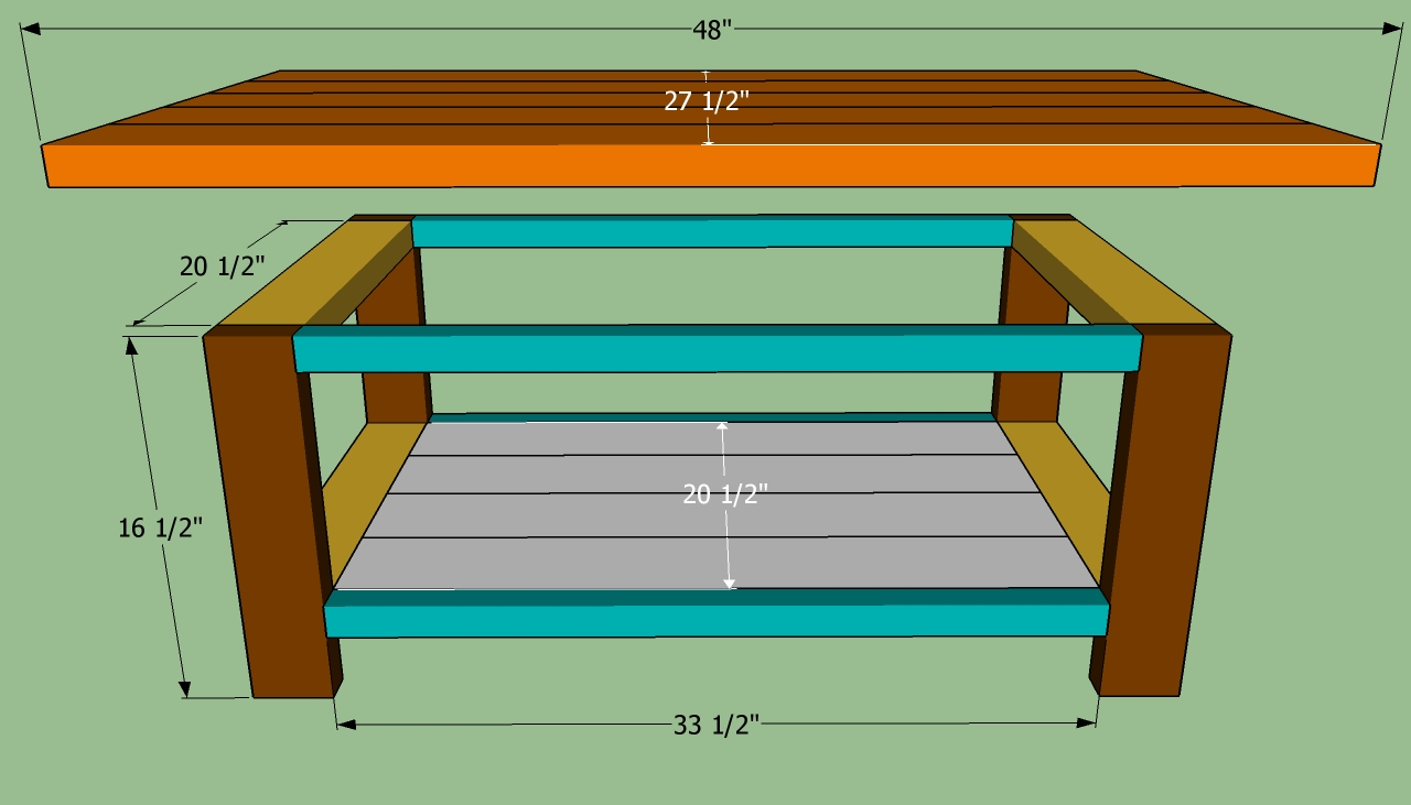 ... coffee table | HowToSpecialist - How to Build, Step by Step DIY Plans
