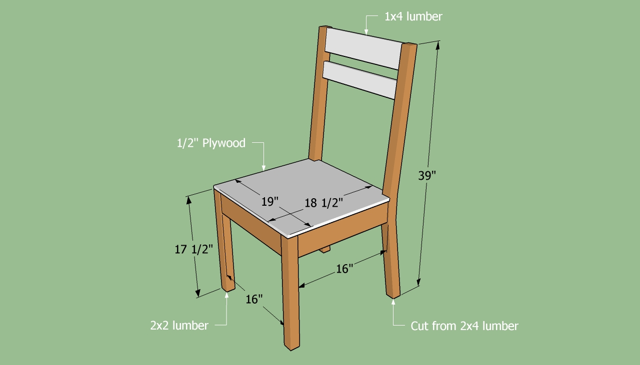 Wood Chair Building Plans Patt