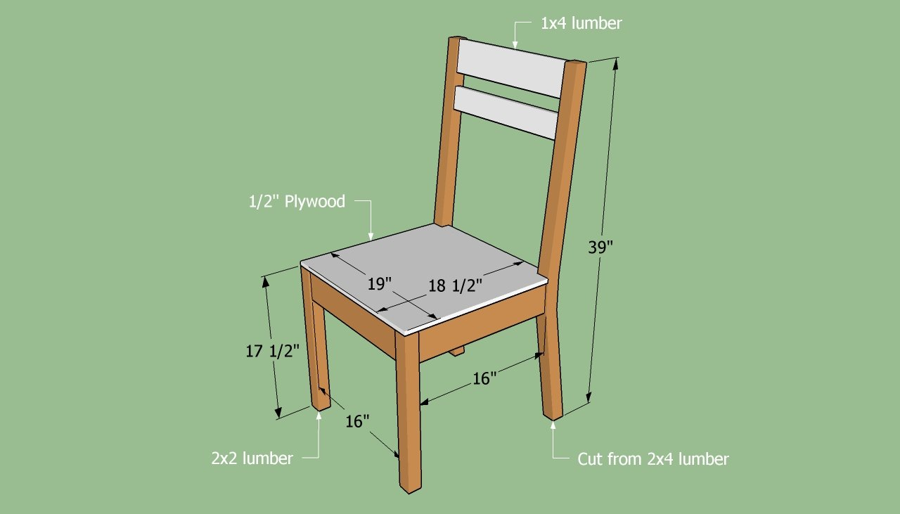 how to build wooden chairs