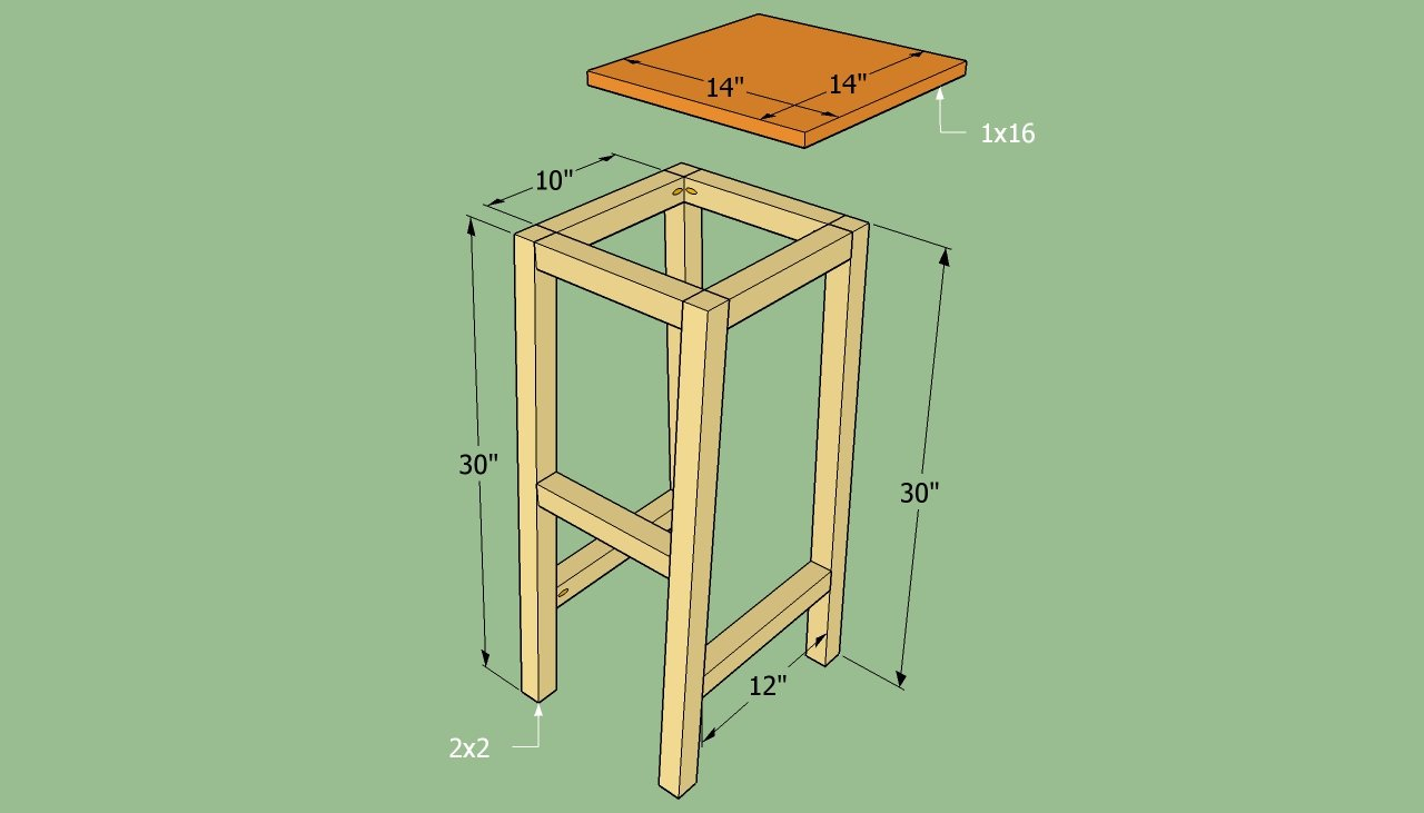 wood stool blueprints