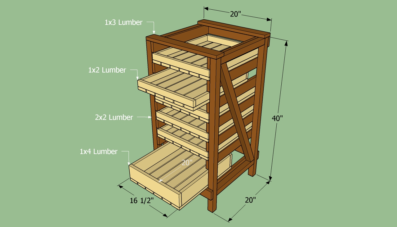 food storage shelves plans