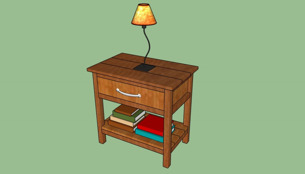 Do It Yourself Home Design: How To Build A Bedside Table