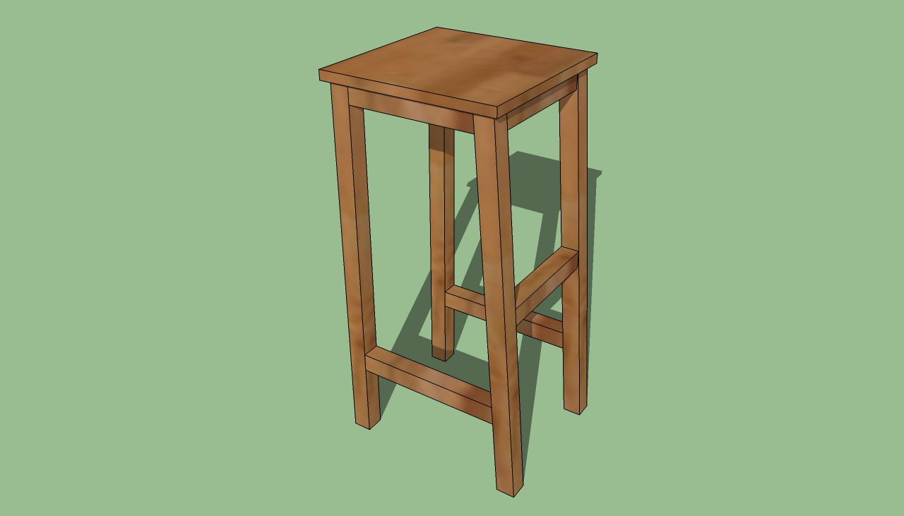 How to build a bar stool