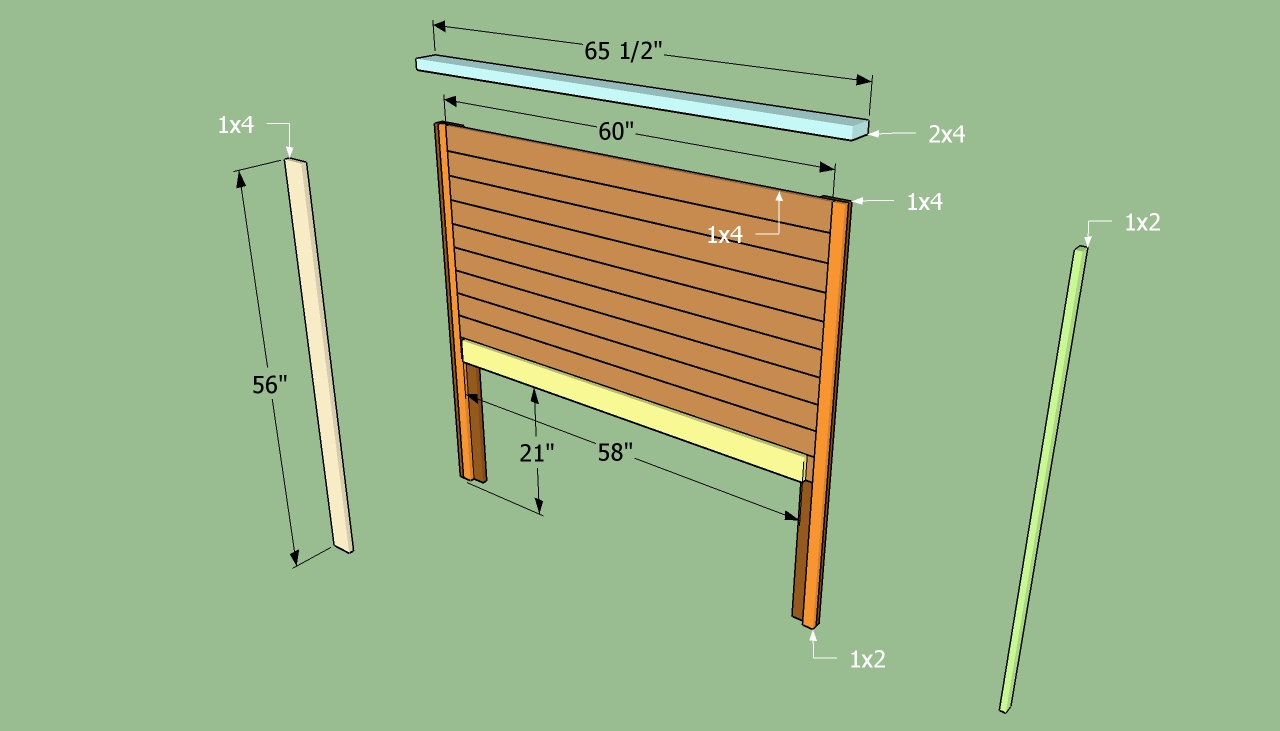 Woodwork how to make a wood headboard for a bed pdf plans for Makeshift headboard