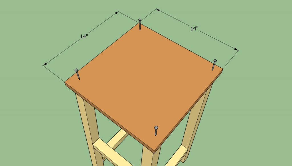 Installing the seat of the stool
