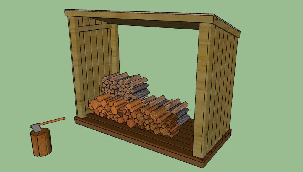 Lean to firewood shed